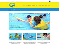Supersharks Swim School website